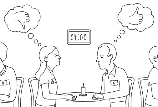 Cartoon of Speed Dating Experiments